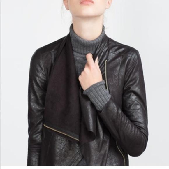 bd7ef0551a82 Zara Jackets & Coats | Womans Black Faux Suede Jacket | Poshmark